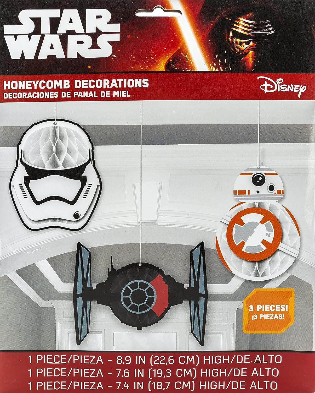 Amazon.com: Amscan – Star Wars Episodio Vll Honeycomb ...