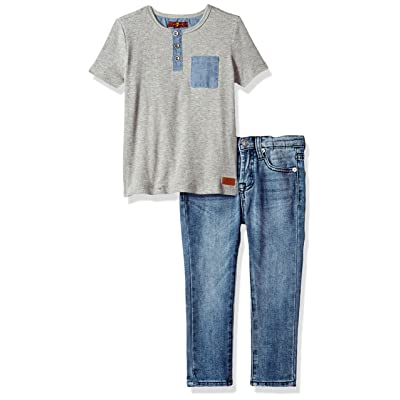7 For All Mankind Little Boys' T-Shirt and Pant Set