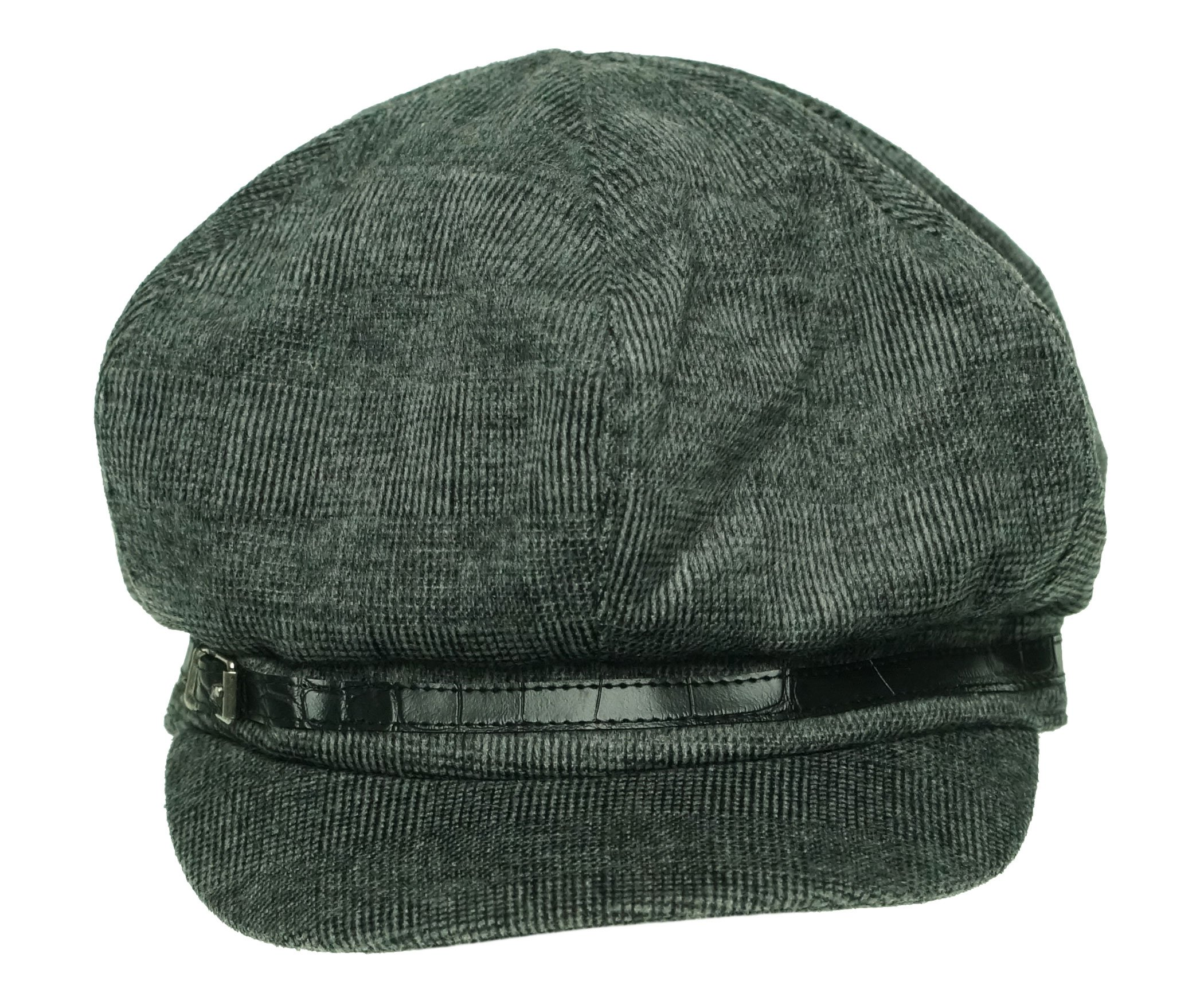 Nine West Newsboy Cap with Embossed Band Grey Women's One Size