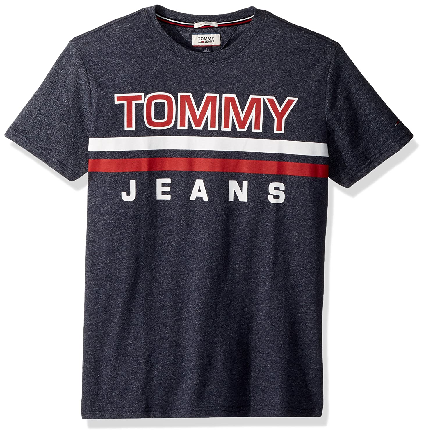 Tommy Hilfiger Mens T Shirt Short Sleeve Graphic Logo Tee