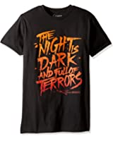 HBO'S Game of Thrones Men's the Night Is Dark and Full of Terrors Short Sleeve T-Shirt