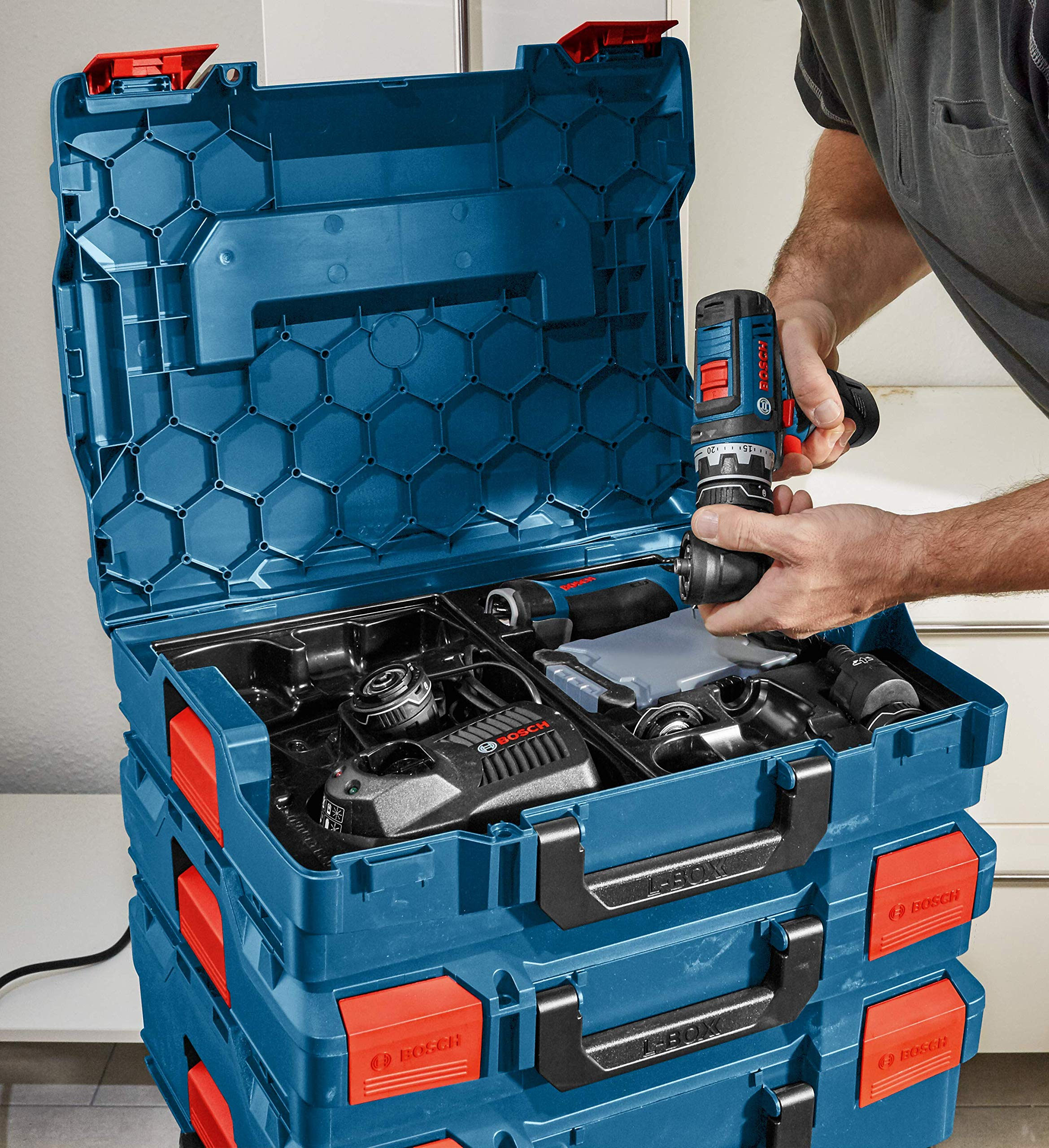 Bosch L-BOXX-1 4.5 In. x 14 In. x 17.5 In. Stackable Tool Storage Case by Bosch (Image #7)