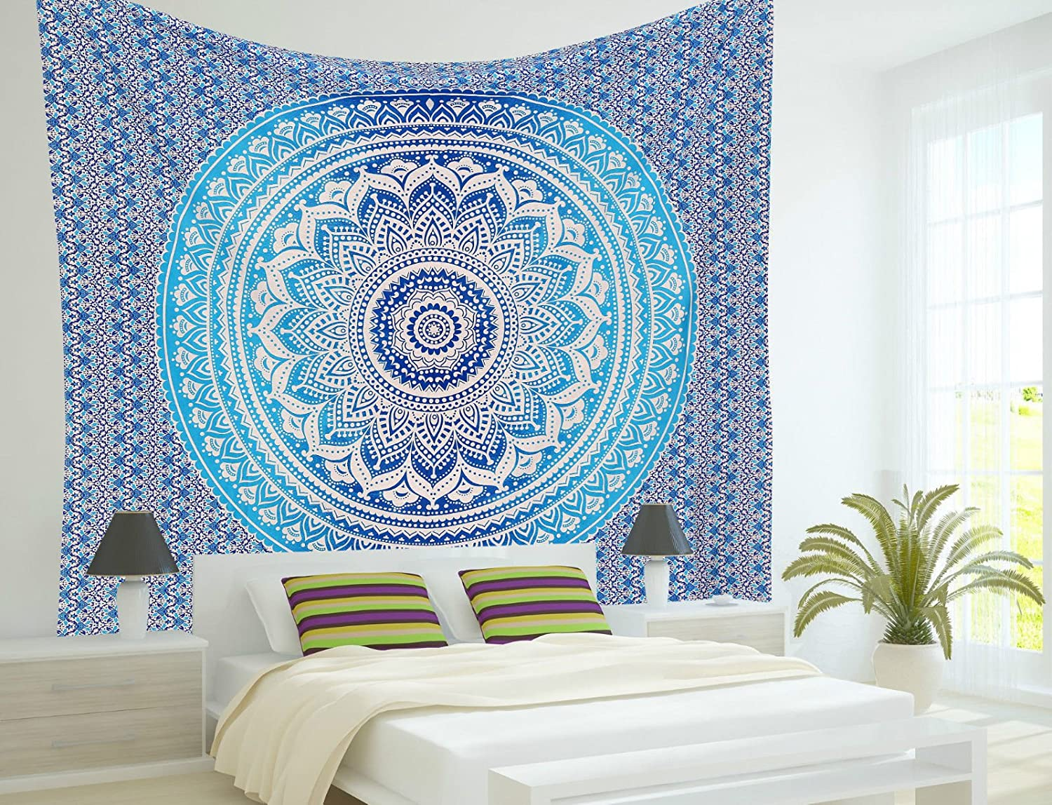 ART BOX STORE Multi Celtic Poster 30x40 Inches Mandala Hippie Tapestry Hippy Mandala Bohemian Tapestries Tapestry Wall Hanging Ethnic Decorative Indian Dorm Decor Psychedelic worldwideretailers