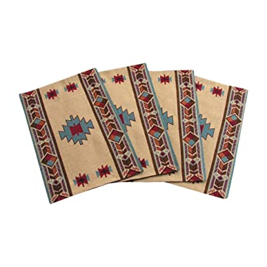 Carrizo Southwestern Design Placemats Set of 4 by RaaKha