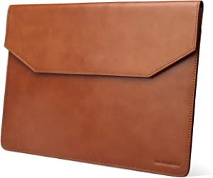 Kasper Maison 13.3 inch Leather Laptop Sleeve for MacBook Pro and Microsoft Surface Laptop - Tan