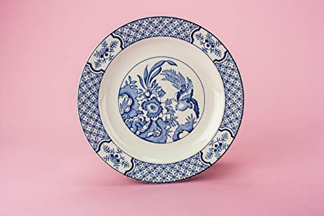 4 Spectacular Small Yuan Wood Sons PLATES Cake Kitchen Antique Blue And White Victorian Service Dinner & Amazon.com | 4 Spectacular Small Yuan Wood Sons PLATES Cake Kitchen ...