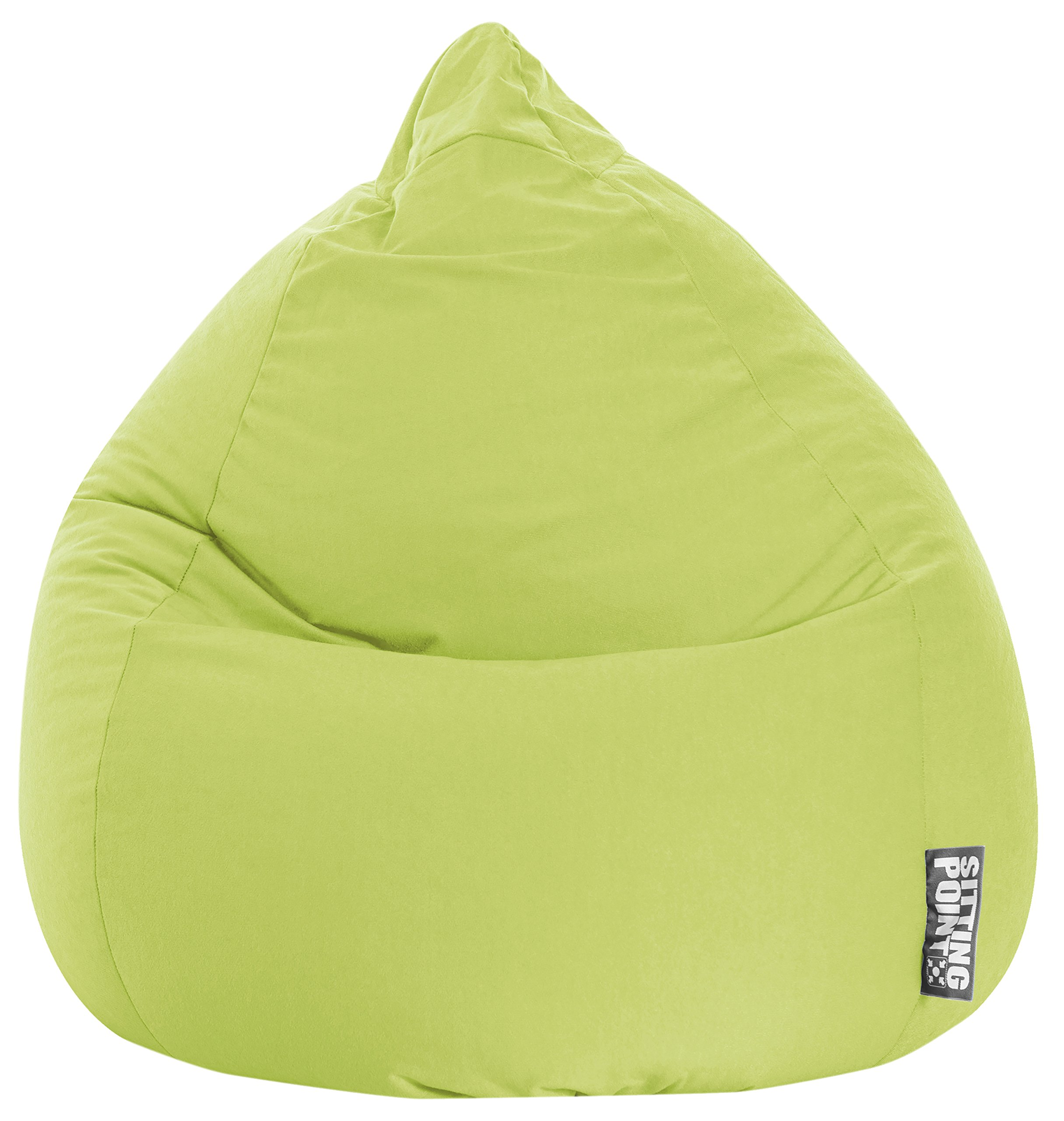Gouchee Home Easy Collection Contemporary Polyester Upholstered Oversized Bean Bag Chair, Lime Green