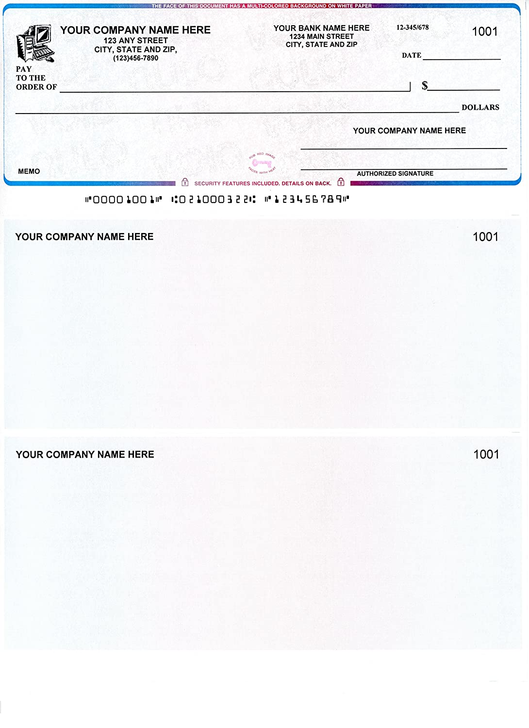 photo about Printable Checks for Quickbooks referred to as : Pc Assessments - 250 Posted Laser Laptop