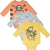 Disney Winnie-The-Pooh Baby Boys Short-Sleeve 3 Pack Bodysuits