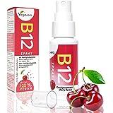 Vitamin B12 Spray, 25ml by Vegavero   4 Month Supply   250 mcg per Spray, B12 Methylcobalamin   Natural Cherry Flavour Liquid   Vegan Society Approved   Made in Germany