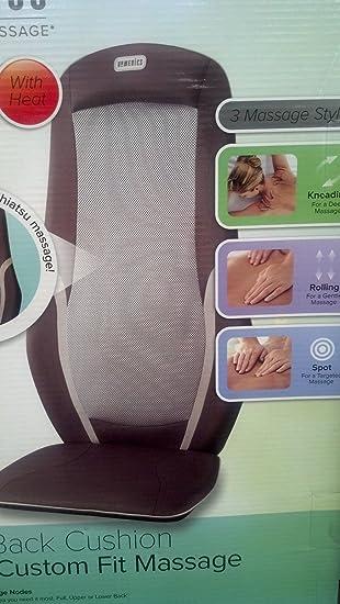 Amazon.com: HoMedics – Cojín de masaje Shiatsu – Masaje de ...