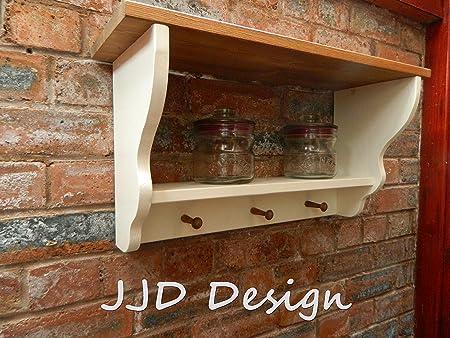 Shabby Chic Wall Unit Shelf Storage Cabinet Kitchen