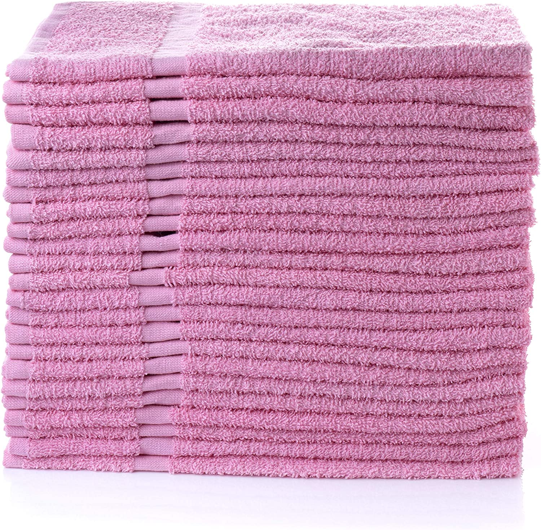 "Simpli-Magic 79197 Hand Towels, 16""x27"", Pink 12 Pack"