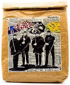 Um Beatles - Reusable & Insulated Tyvek Paper Kraft Art Lunch Bag – 8 hours Hot or Cold