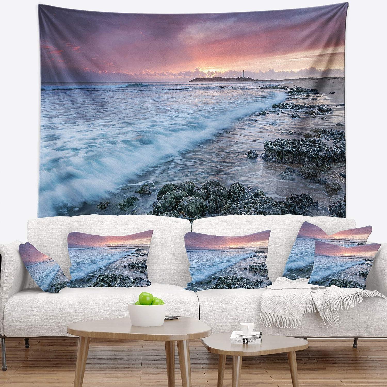 Designart TAP10552-60-50 Sunset On Cape Trafalgar Beach Wall Tapestry Large//60 x 50