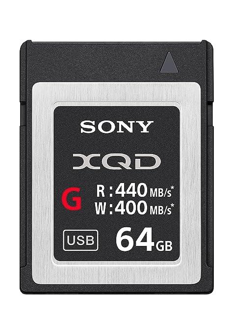 Sony QDG64E/J Memoria Flash 64 GB XQD - Tarjeta de Memoria (64 GB, XQD, 440 MB/s)