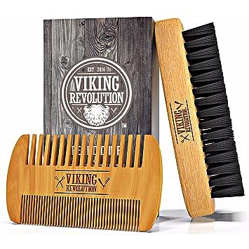 amazon com best deal beard brush and comb set for men natural