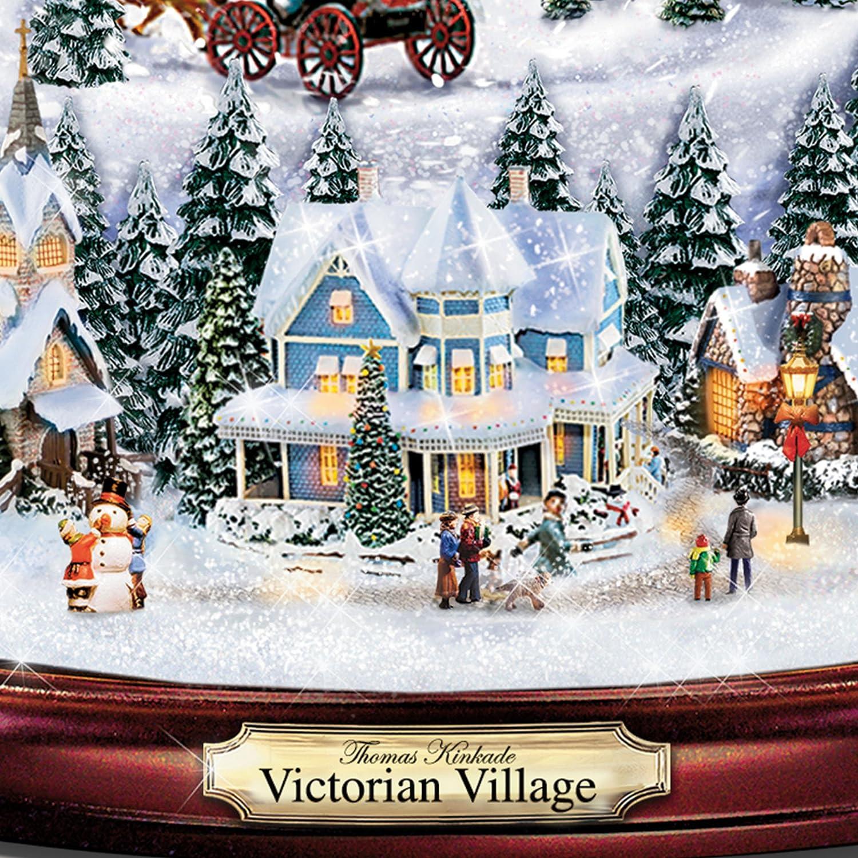 Thomas Kinkade Christmas Village Illuminated Musical Snowglobe ...