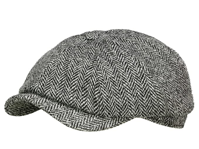 Wigens Men s Newsboy Cap Art. No. 100540 - grey  Amazon.co.uk  Clothing abfe65e2777
