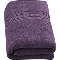 Utopia Towels - Luxurious Jumbo Bath Sheet (35 x 70 Inches, Plum) - 700 GSM 100% Ring Spun Cotton Highly Absorbent and Quick Dry Extra Large Bath Towel - Super Soft Hotel Quality Towel