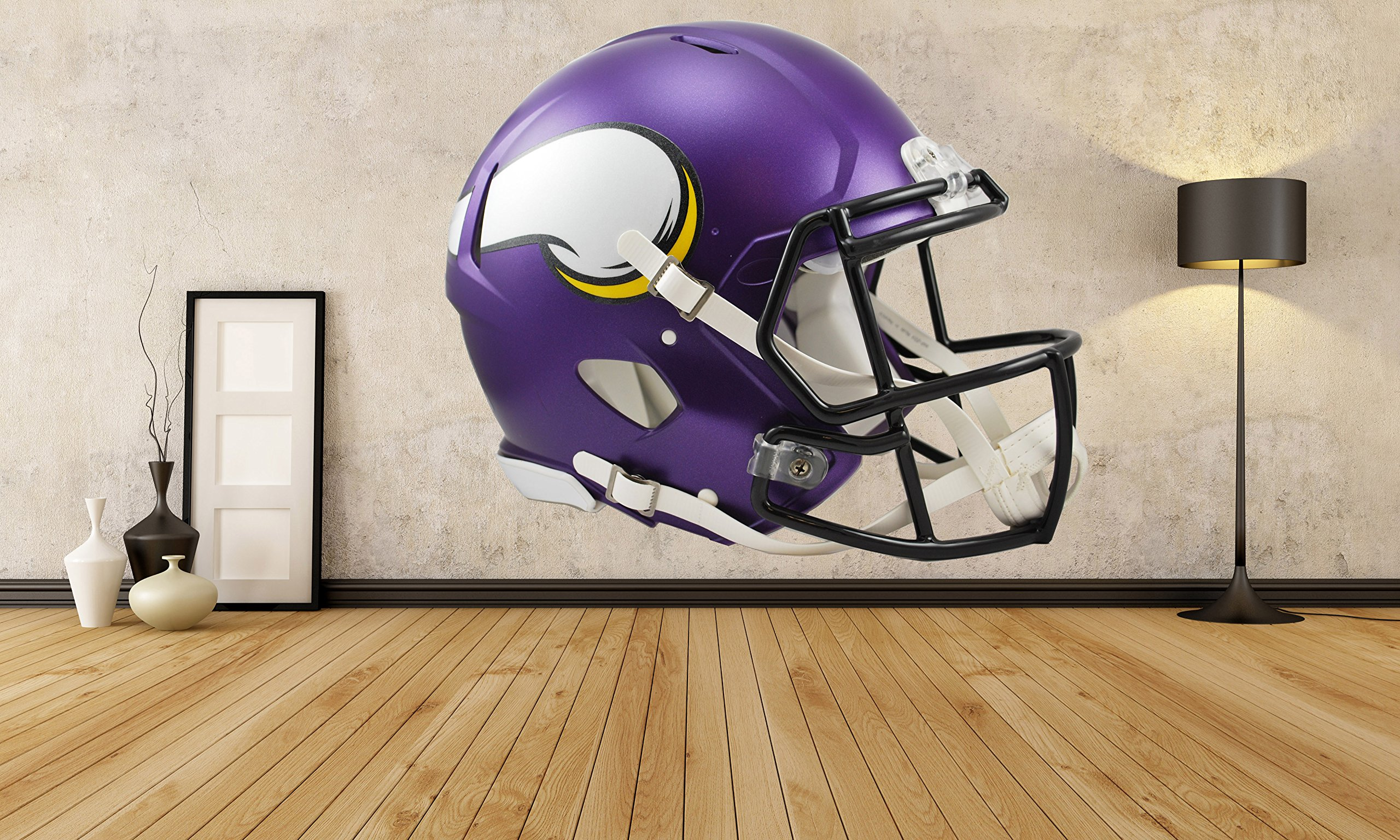 Minnesota Vikings Helmet sticker, Minnesota Vikings Helmet decal, Vikings decal, Vikings sticker, Minnesota Vikings home decor, Minnesota, Vikings bumper sticker, Vikings NFL sticker, vmb05 (20x20)