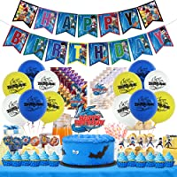 Beyblade Birthday Party Supplies,Beyblade Happy Birthday Banner Decorations, Cake Topper, Cupcake Toppers, Latex…
