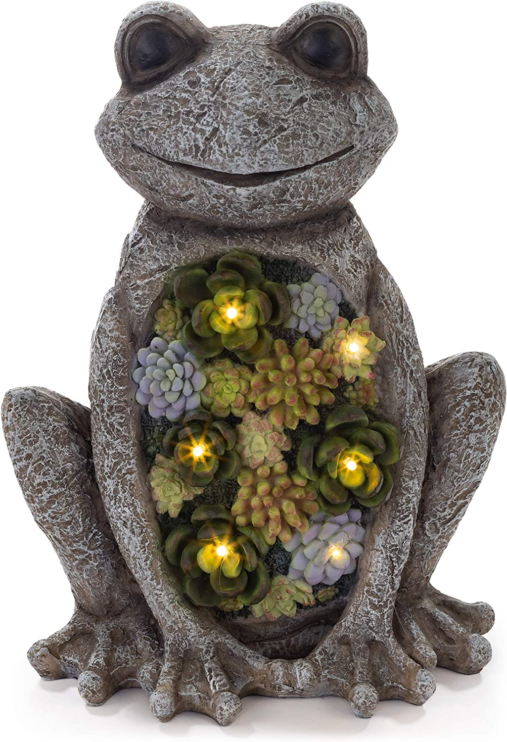 VP Home Chillin Frog Solar Powered LED Outdoor Decor Garden Light