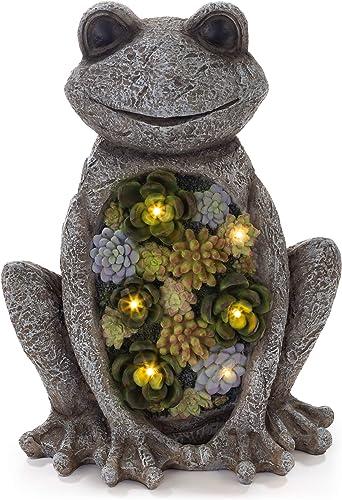 VP Home Chillin Frog Solar Powered LED Outdoor Decor Garden Light