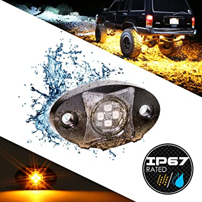 LAMPHUS Stardust SDRL14 4x4 4WD Off Road LED Rock Light for Jeeps & Truck - Amber: Automotive