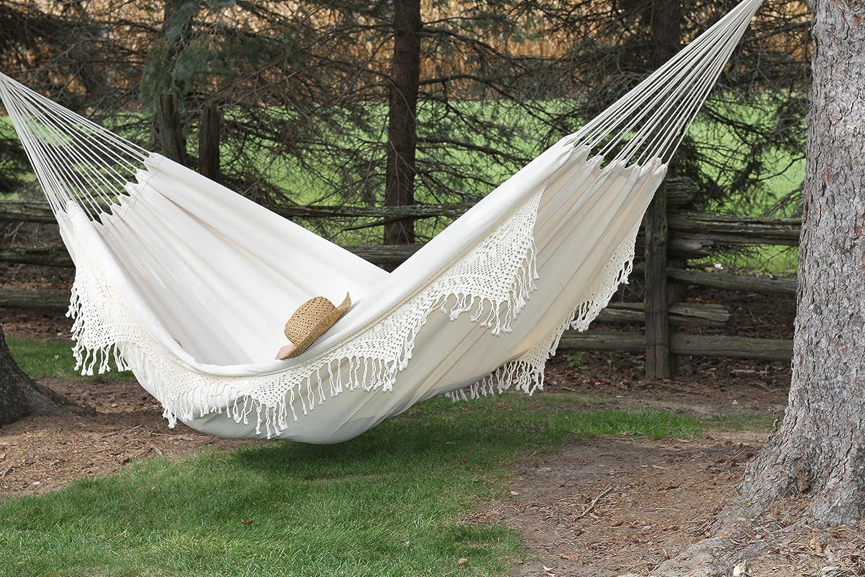 amazon     vivere braz400 brazilian style double deluxe hammock   garden  u0026 outdoor amazon     vivere braz400 brazilian style double deluxe hammock      rh   amazon