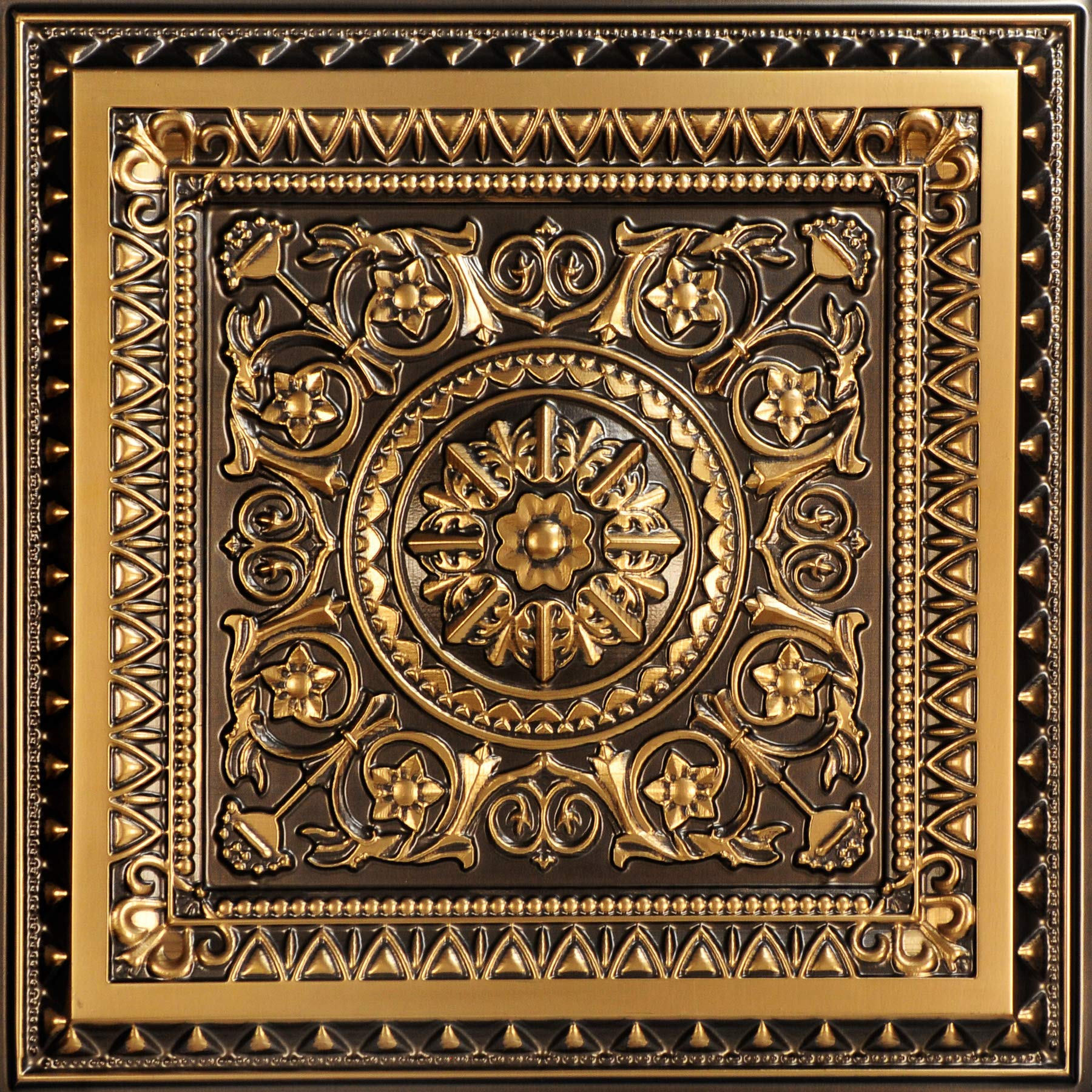 From Plain To Beautiful In Hours 223ag-24x24 Ceiling Tile, Antique Gold