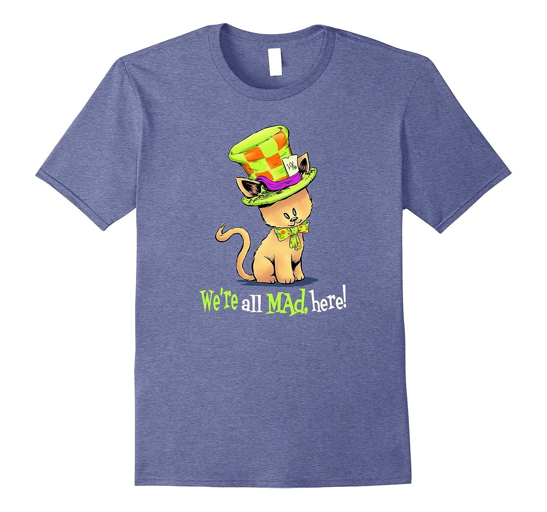 Alice in Wonderland Mad Hatter Cat Shirt-FL