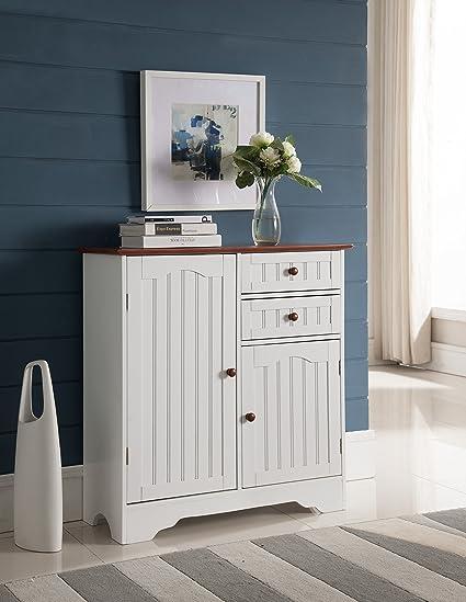 kitchen buffet cabinet build in kings brand whitewalnut finish wood kitchen storage buffet cabinet amazoncom