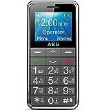 AEG Voxtel M250 - Téléphone Portable Débloqué avec Grandes Touches et Bouton SOS - Noir