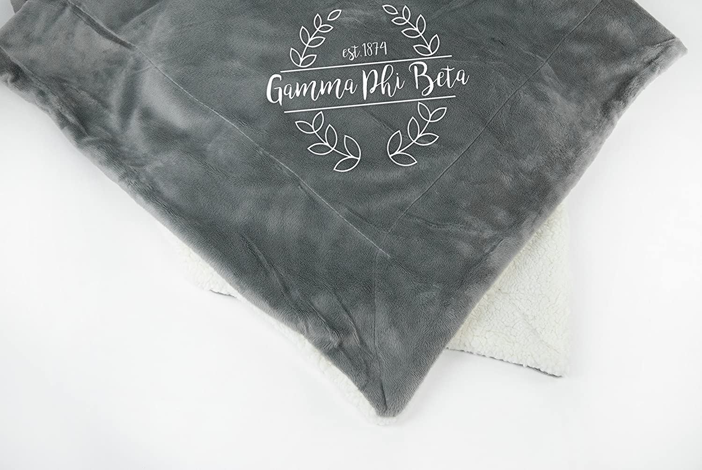 Gamma Phi Beta Throw Blanket | Sorority Plush Minky Blanket