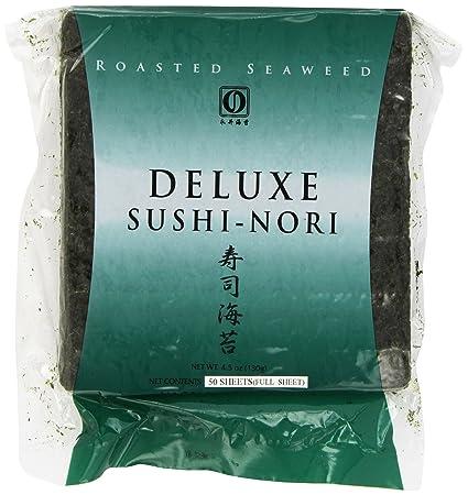 Amazon Com Nagai Deluxe Sushi Nori 50 Count Dried Seaweed And