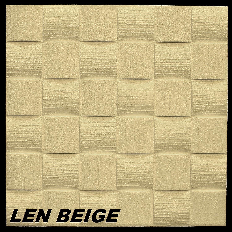 10/M2/pannelli per soffitto parete decorazione dell interno Stuck 50/x 50/cm Len Beige