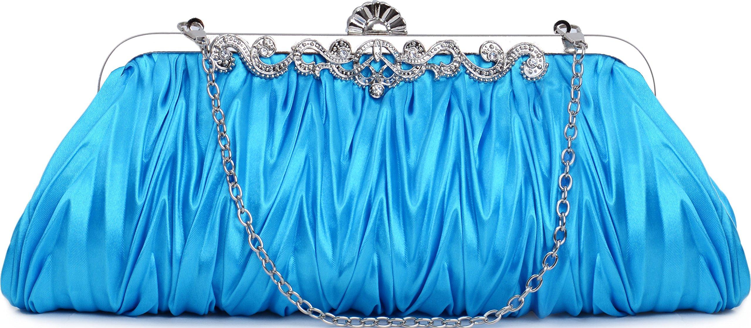Pulama Romantic Love Bridal Wallet For Wedding Evening Party Bag Purse, Sky Blue