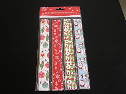 Christmas Paper Chains Uk.100 Pieces Of Decorative Festive Christmas Paper Chains