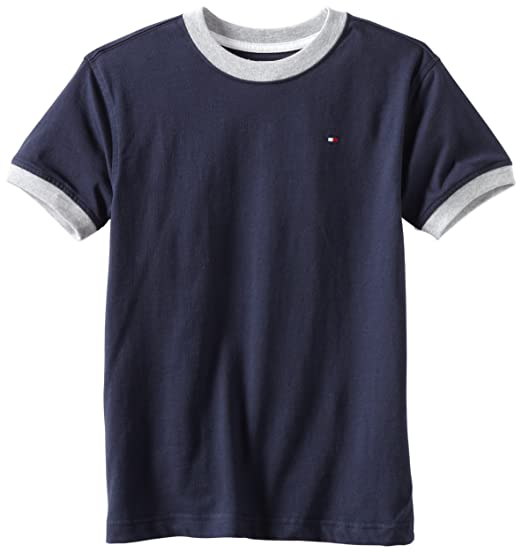 f4a53d23c Amazon.com: Tommy Hilfiger Boys' Core Crew-Neck Ken T-Shirt: Fashion T  Shirts: Clothing