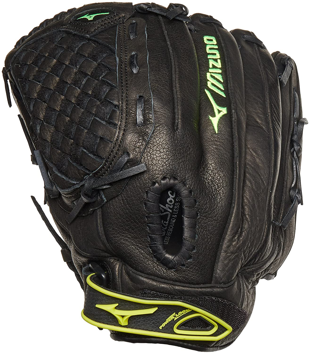 1aded9f74907 Amazon.com : Mizuno GPL1250F1 Prospect Fastpitch Series Right Handed Throw  Youth Softball Mitt, Black, 12.50-Inch : Softball Infielders Gloves :  Sports & ...