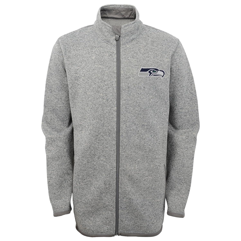 0e0b70c6 Outerstuff NFL Youth Boys 8-20 Full Zip Sweater Knit Fleece Jacket