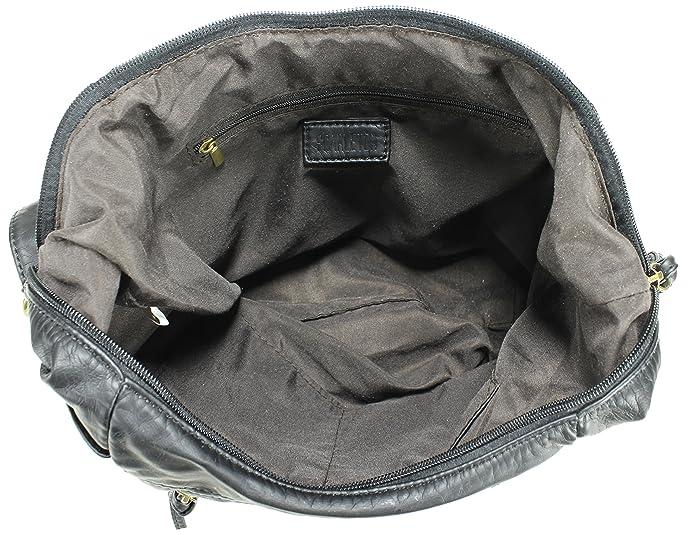 bd41fc426eaf Amazon.com  Scarleton Trendy Hobo Style Crossbody Bag H197101 - Black  Shoes