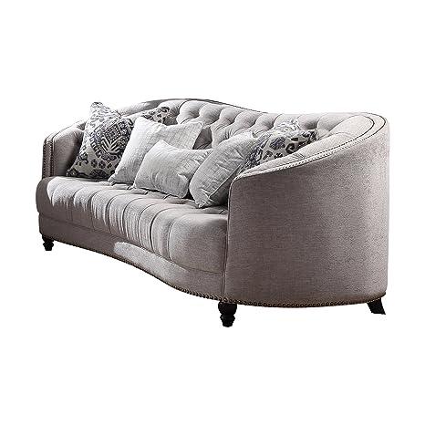 Amazon.com: Acme muebles 52060 Saira sofá, gris claro ...