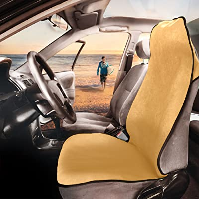 FH Group FH1006 Multifunctional Beach, Fitness Towel Car Seat Cover (Beige) One Cover – Universal Fit for Cars, Trucks & SUVs: Automotive
