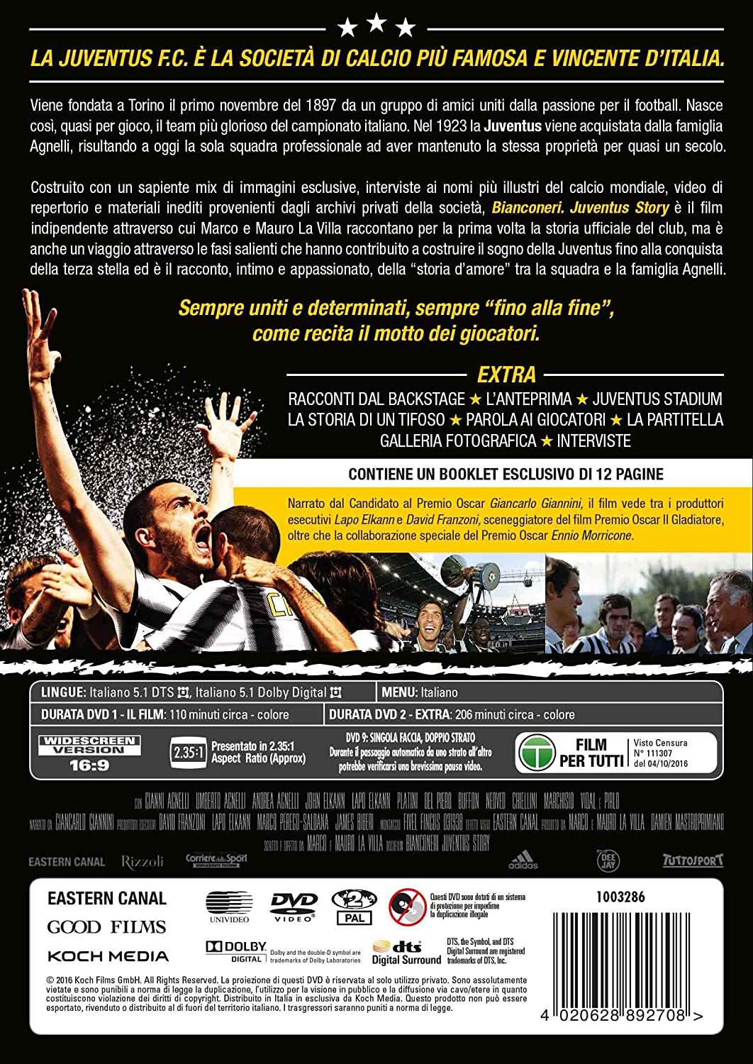 Bien-aimé Bianconeri Juventus Story - Il Film (2 DVD): Amazon.it: Gianluigi  XD66