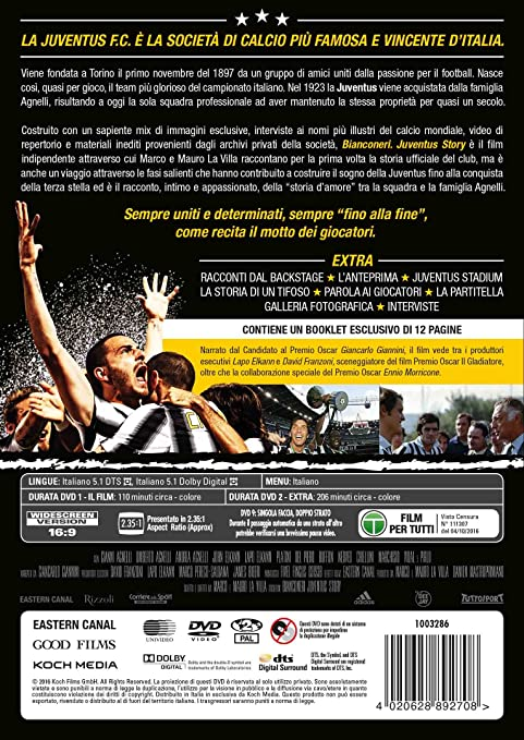 Favorito Bianconeri Juventus Story - Il Film (2 DVD): Amazon.it: Gianluigi  QR44