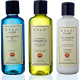 Khadi Herbal Hair Conditioner - Anti Dandruff Shampoo & Anti Dandruff Oil Combo Pack Of 3 210 Ml Each