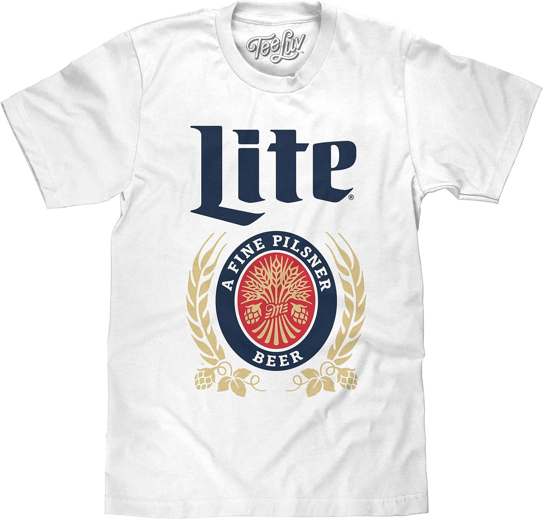 Tee Luv Miller Lite Shirt - Vintage Miller Beer Logo T-Shirt