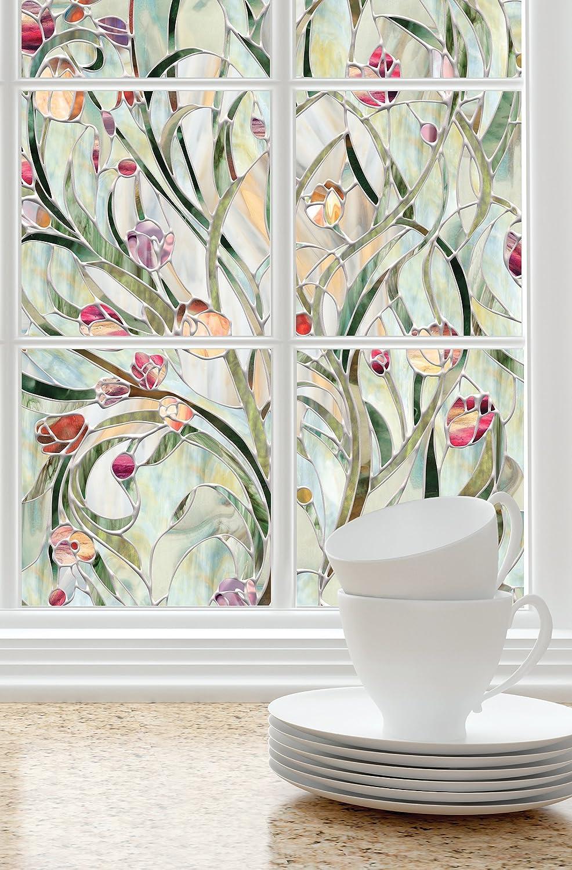 Artscape Spanish Garden Window Film 61 x 92 cm, Vinyl, 91.4 x 61 x 0.02 cm 01-0156